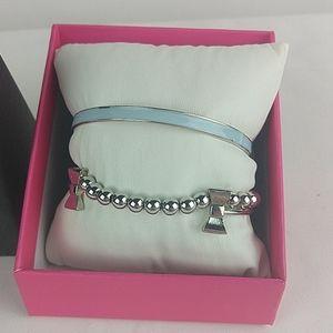 Bangle Bracelets Blue and Bows